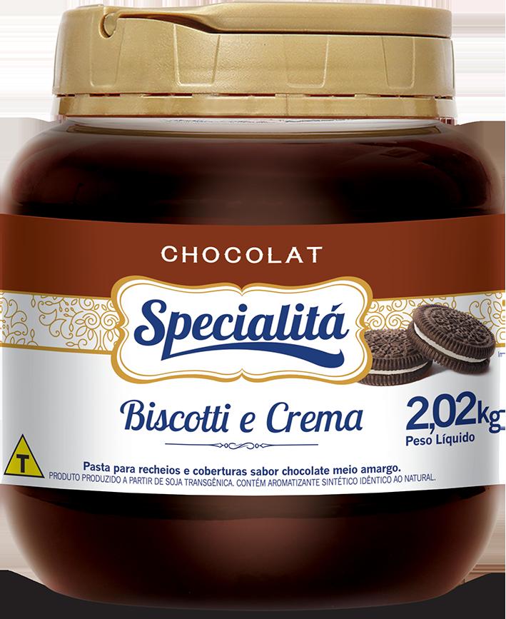 Pasta Chocolat Biscotti e Crema