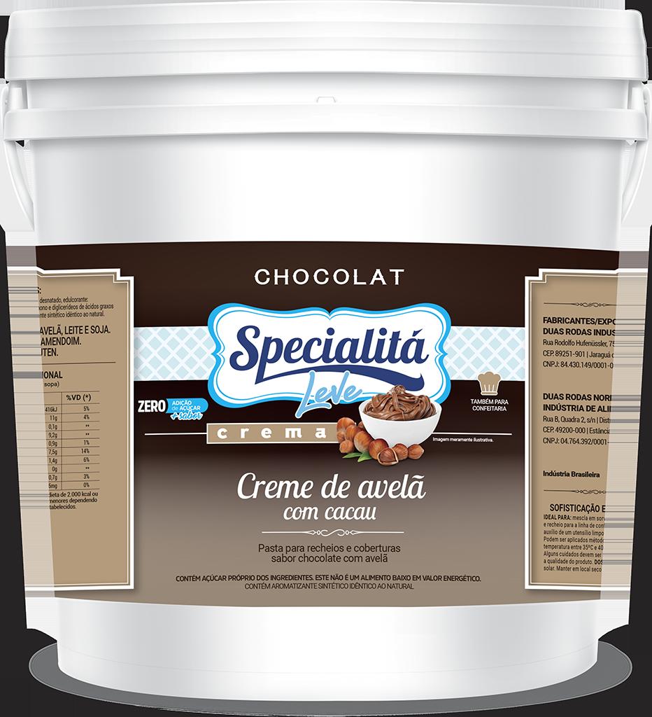 Pasta Chocolat Creme de Avelã com Cacau Zero Adição de Açúcar