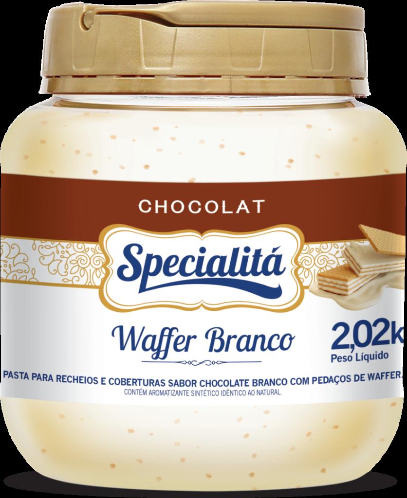 Pasta Chocolat Waffer Branco