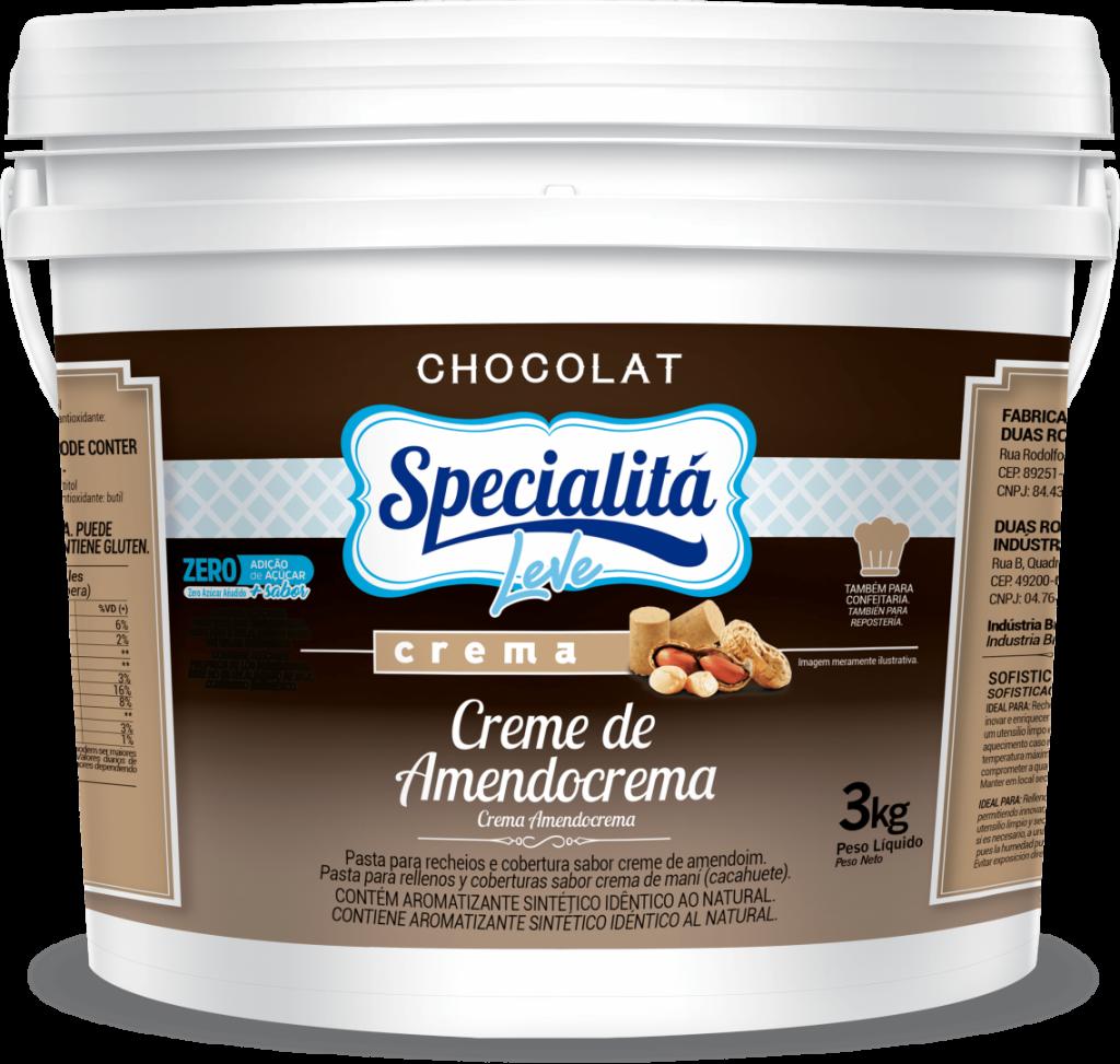 Pasta Chocolat Creme de Amendocrema Zero Adição de Açúcar