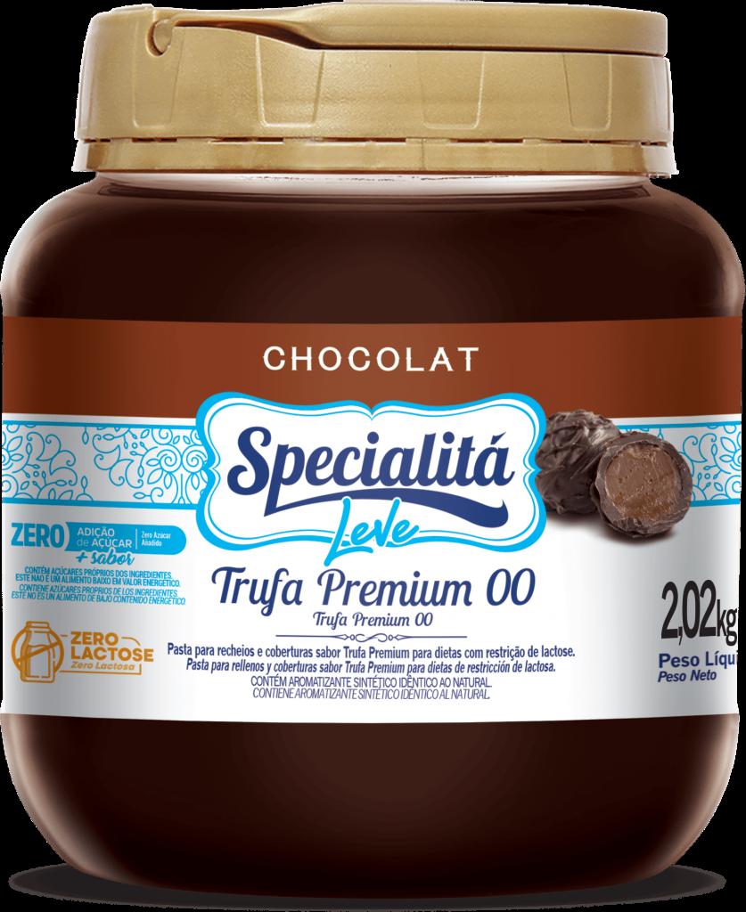 Pasta Chocolat Trufa Premium 00 Zero Adição de Açúcar e Zero Lactose